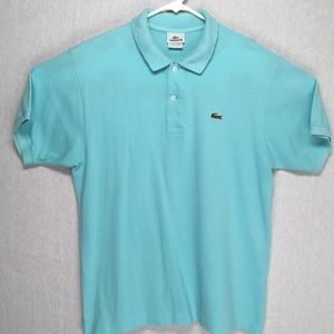 Lacoste mens short sleeve polo shirt green medium